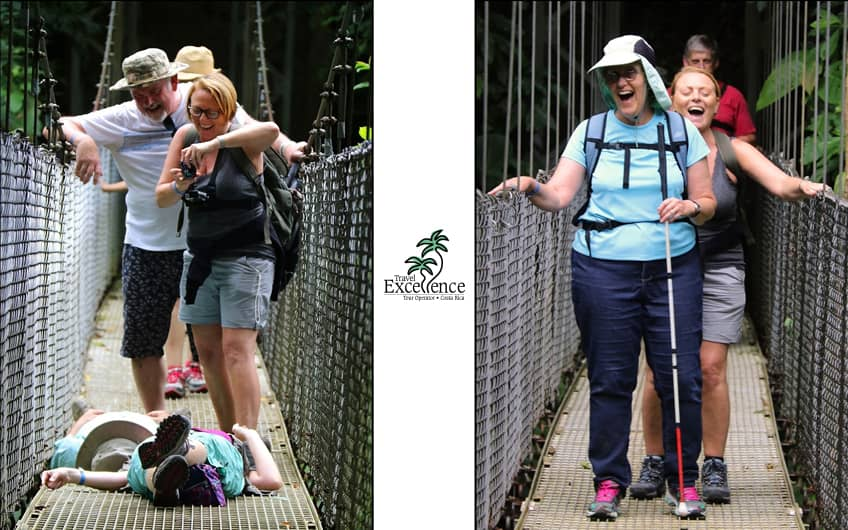 Having fun at hanging bridges, Arenal