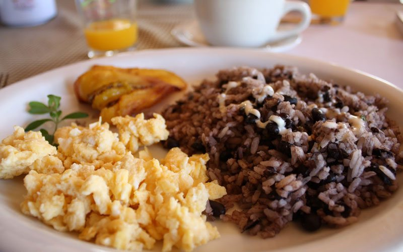 Traditional Costa Rican breakfast, Gallo Pinto